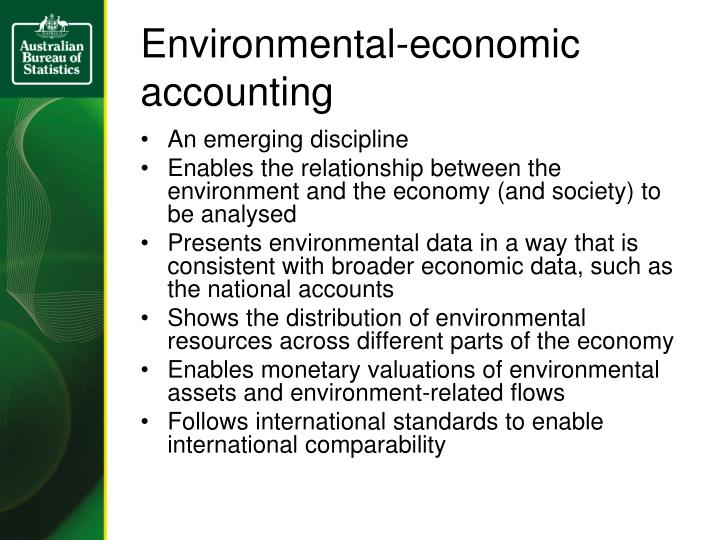 Environmental-economic accounting