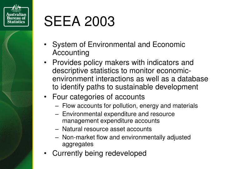 SEEA 2003