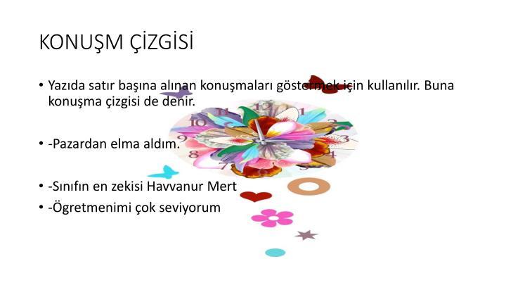 KONUŞM ÇİZGİSİ