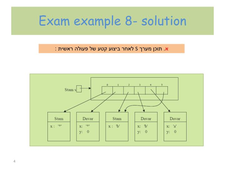 Exam example 8- solution