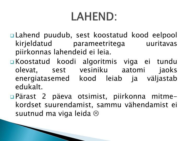 LAHEND: