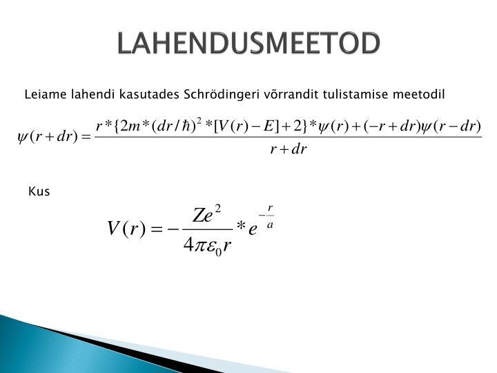 LAHENDUSMEETOD