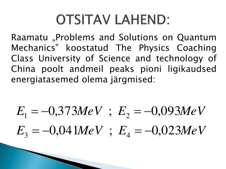 OTSITAV LAHEND: