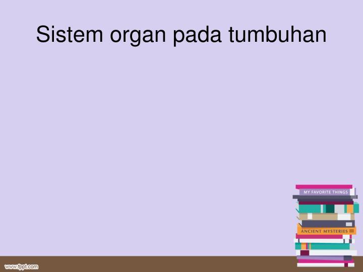 Sistem organ pada tumbuhan
