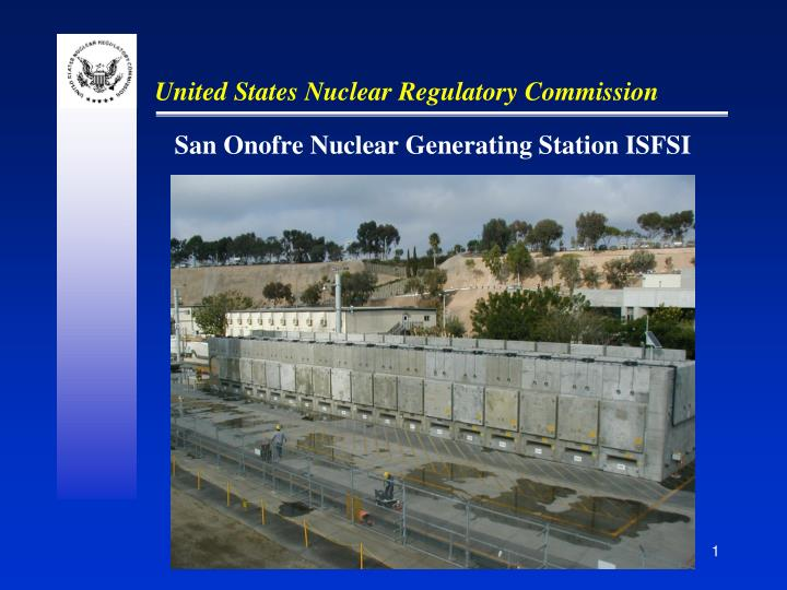 San onofre nuclear generating station isfsi