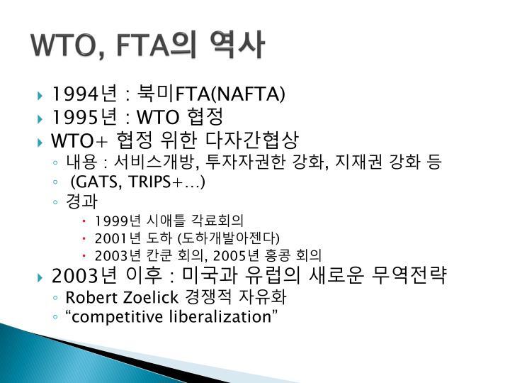 WTO, FTA