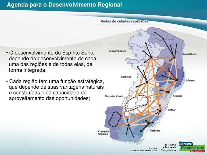 Agenda para o Desenvolvimento Regional