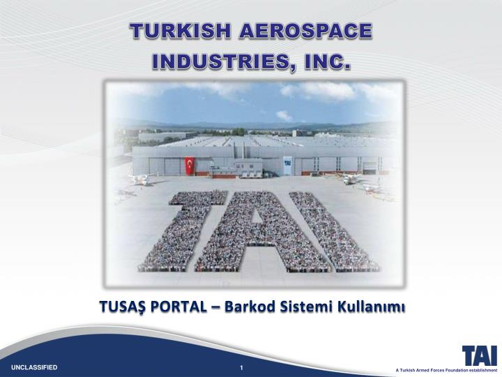 T urkish aerospace industries inc