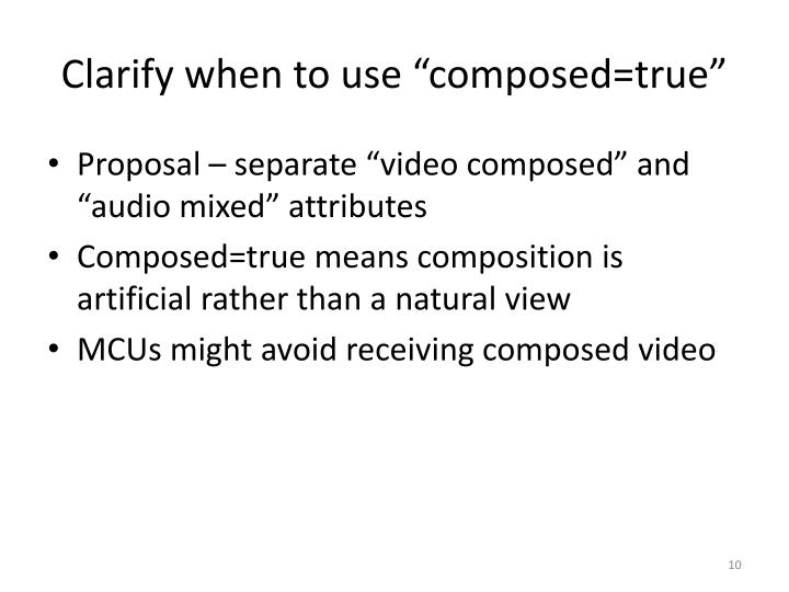 "Clarify when to use ""composed=true"""