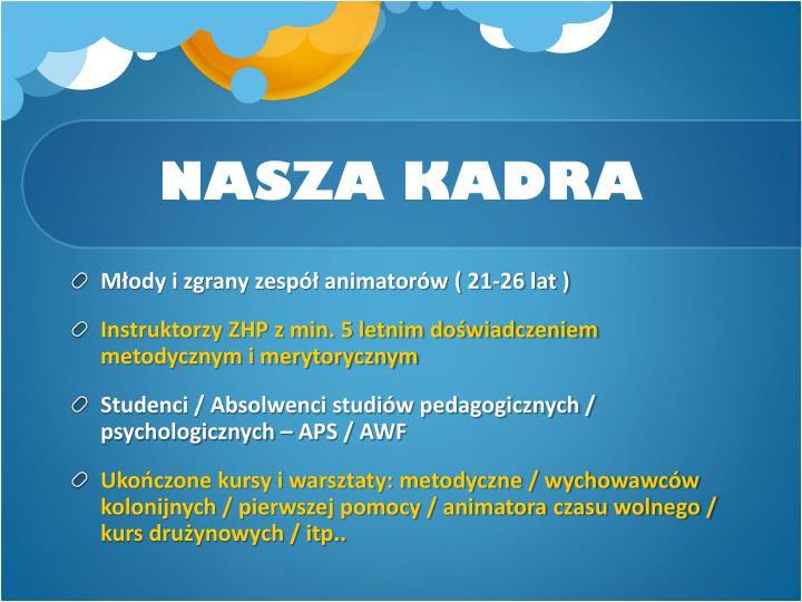 NASZA KADRA