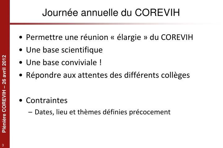 Journée annuelle du COREVIH
