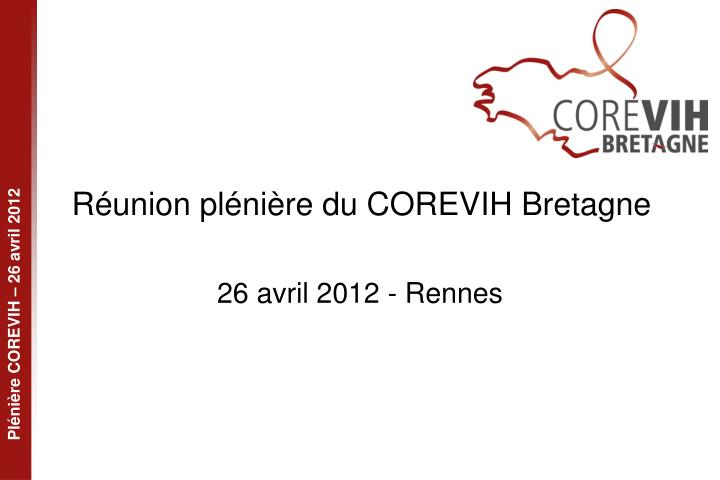 R union pl ni re du corevih bretagne