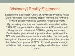 visionary reality statement