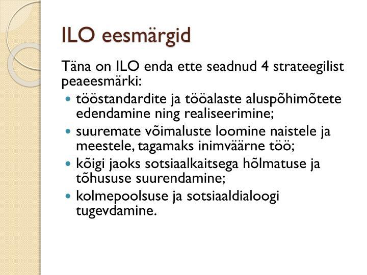 ILO eesmärgid