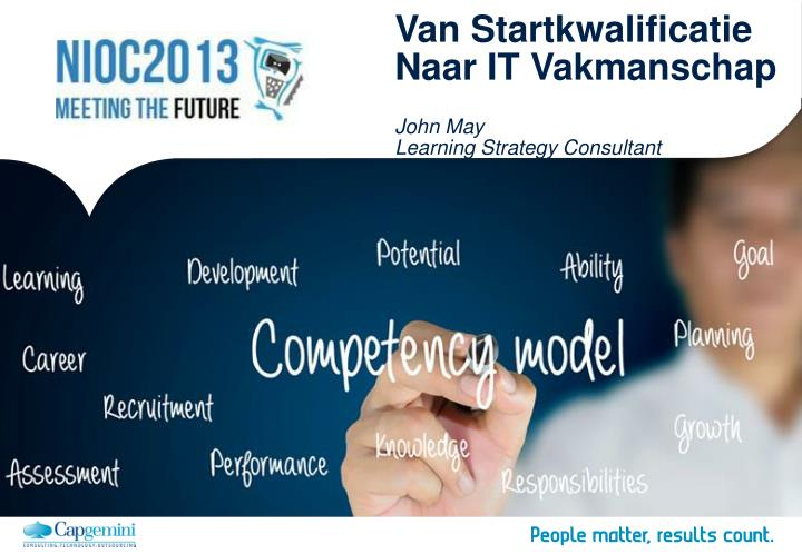 Van startkwalificatie naar it vakmanschap john may learning strategy consultant