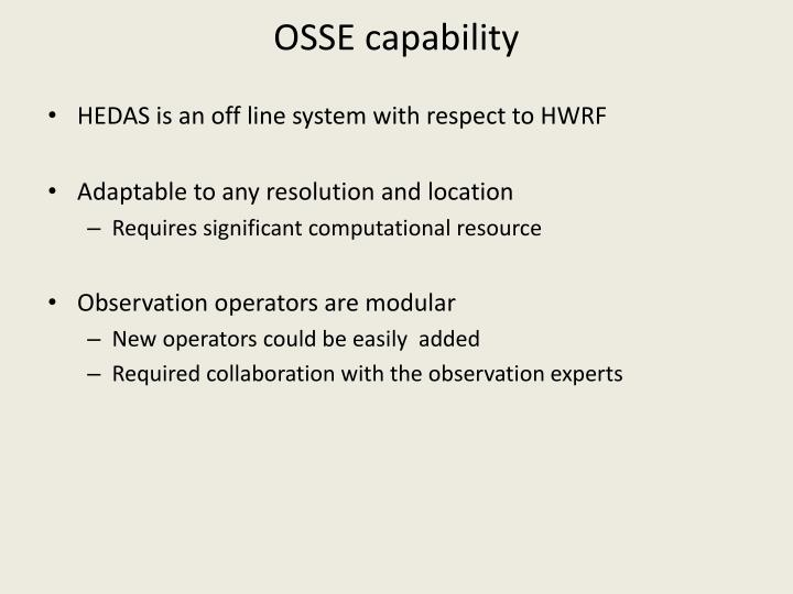 OSSE capability