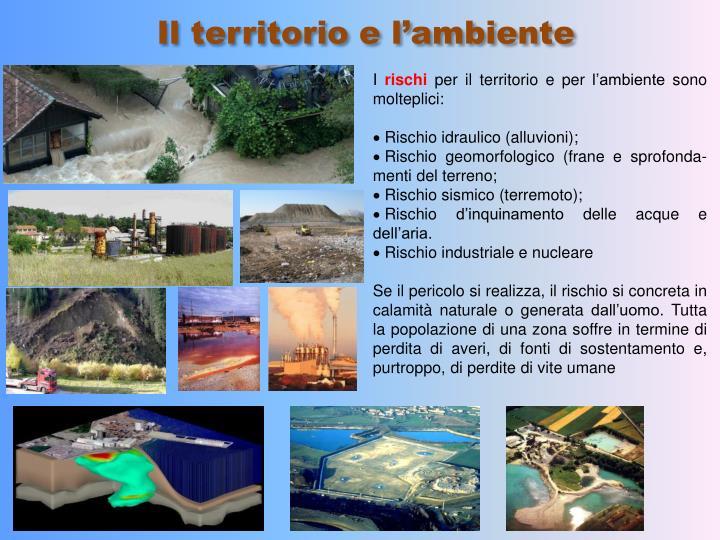 Il territorio e l'ambiente