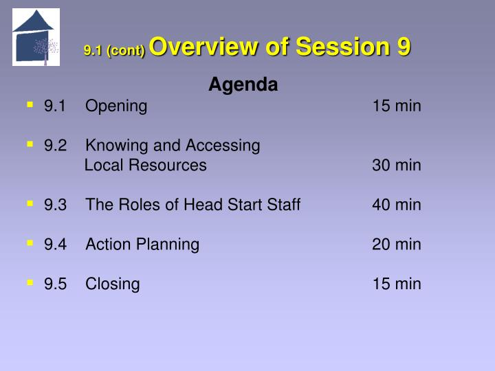 9 1 cont overview of session 9
