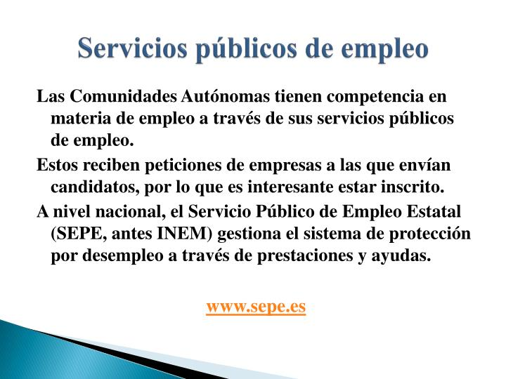 Servicios públicos de empleo