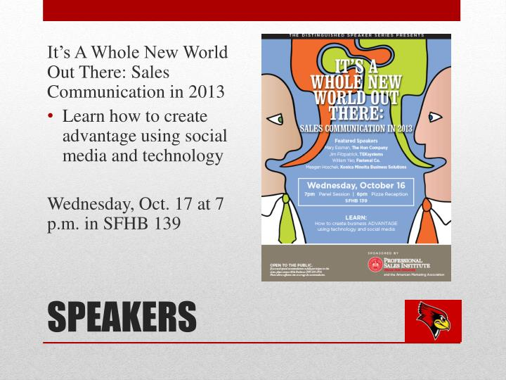 It's A Whole New World Out There: Sales Communication in 2013