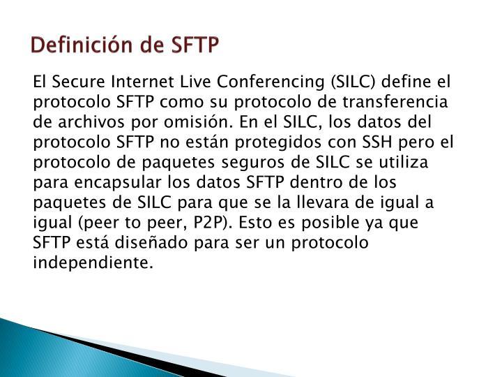 Definición de SFTP