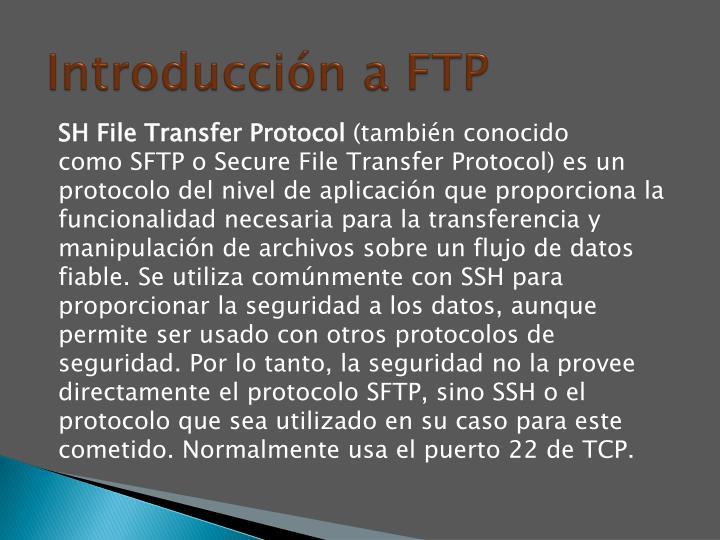 Introducción a FTP