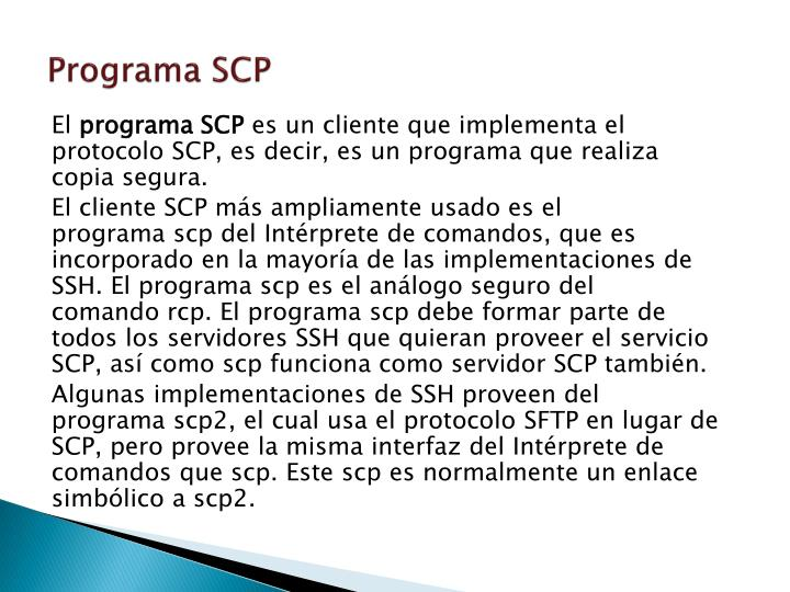 Programa SCP