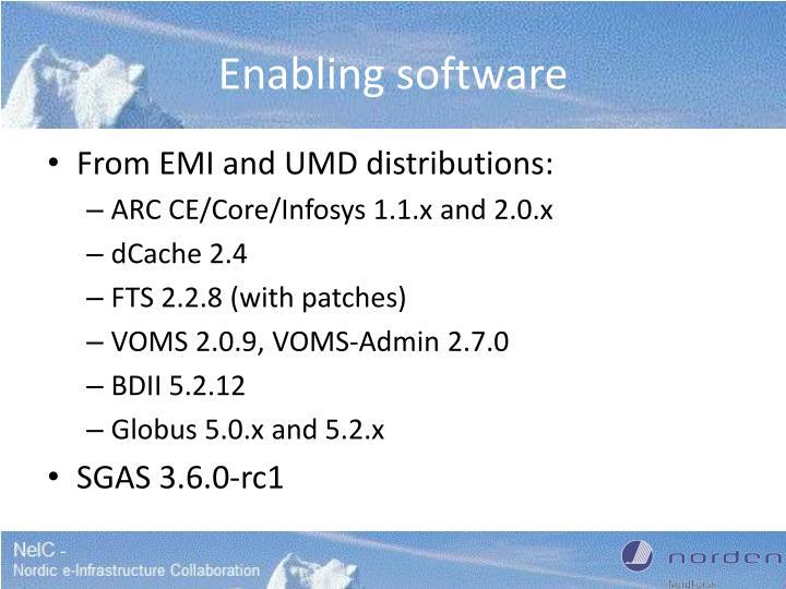 Enabling software