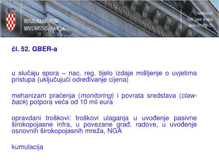 čl. 52. GBER-a