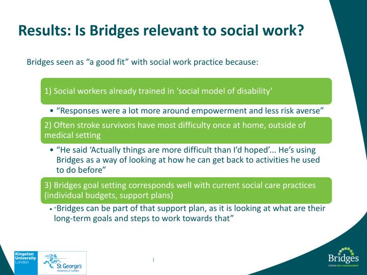 Results: Is Bridges relevant to social work?