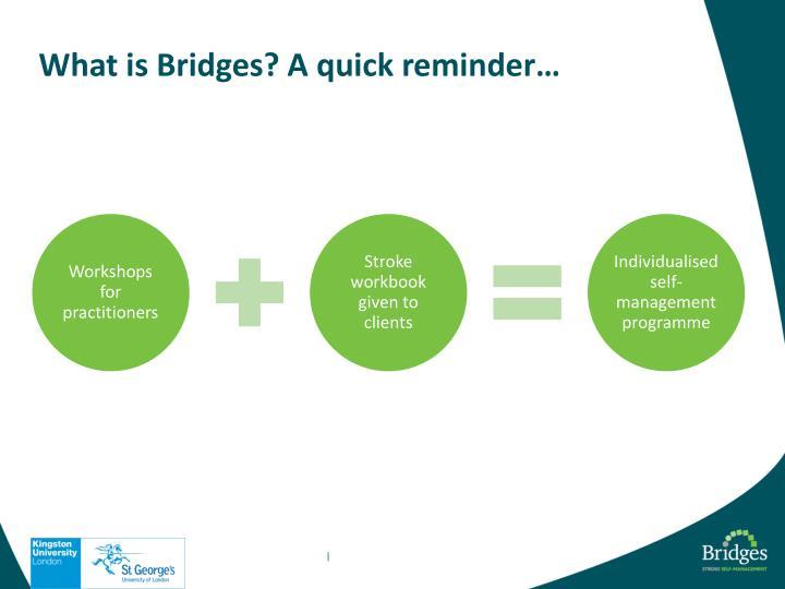 What is Bridges? A quick reminder…