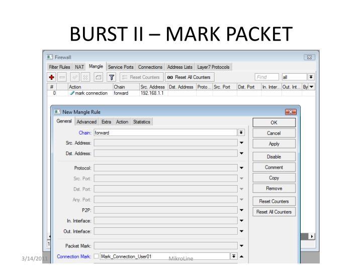 BURST II – MARK PACKET