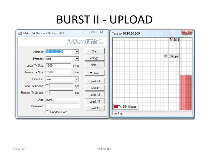 BURST II - UPLOAD
