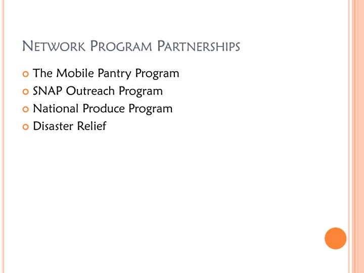 Network Program Partnerships