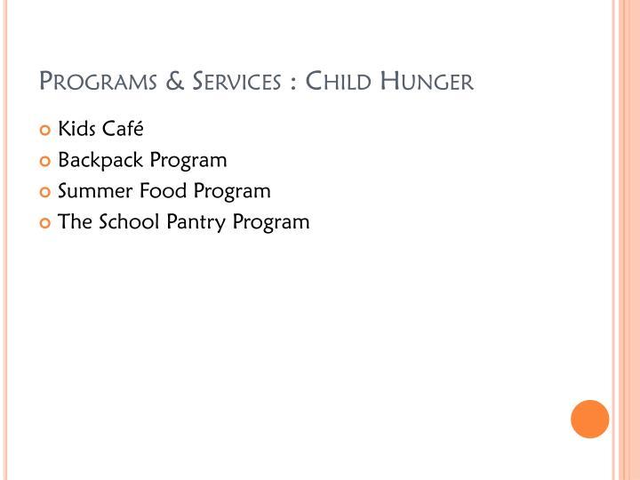 Programs & Services :