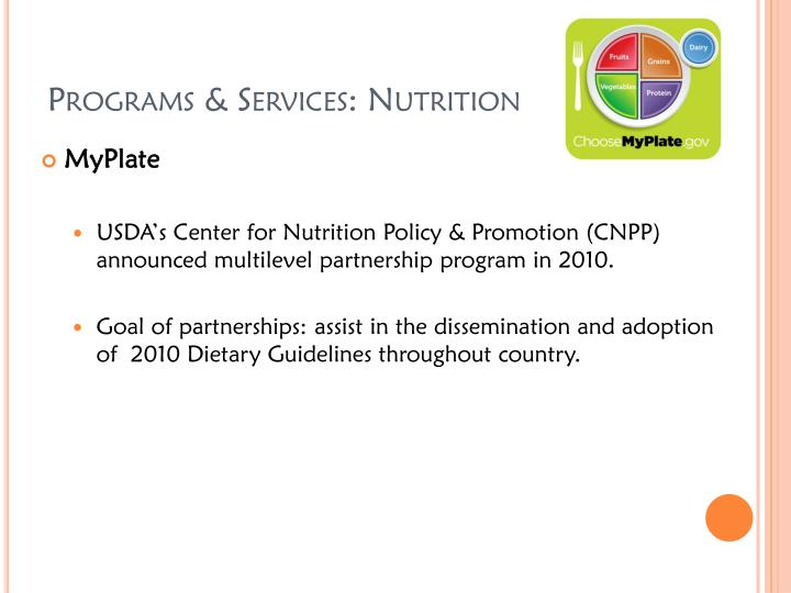 Programs & Services: Nutrition