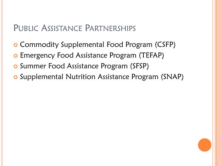 Public Assistance Partnerships