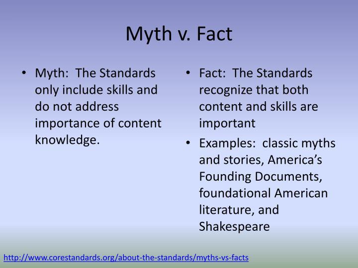 Myth v. Fact