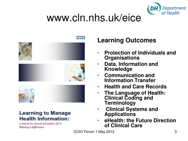Www cln nhs uk eice