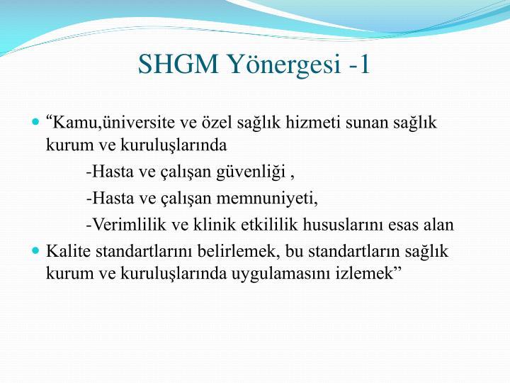 SHGM Yönergesi -1