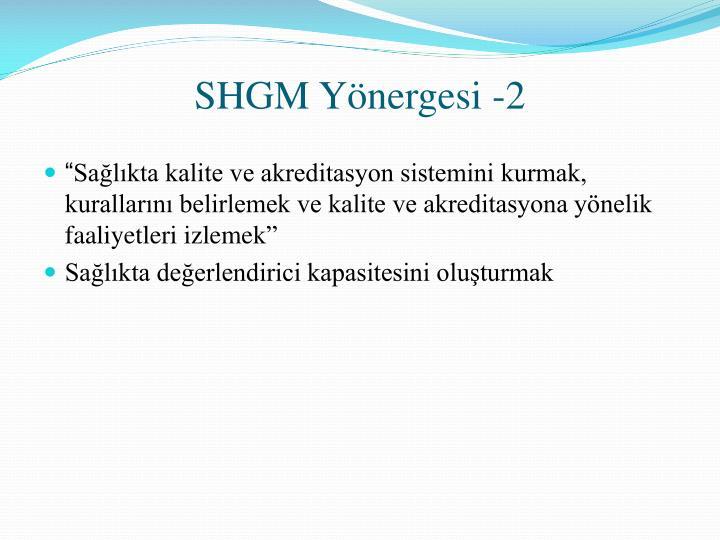 SHGM Yönergesi -2