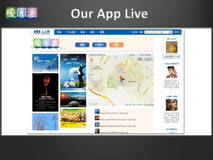 Our App Live