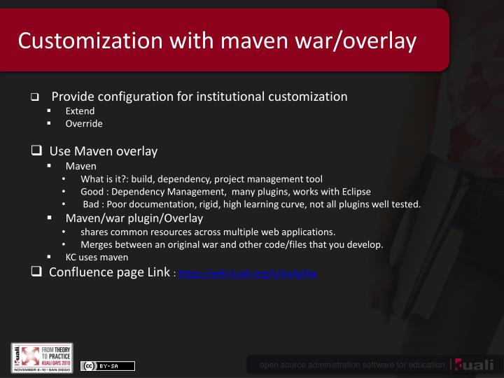 Customization with maven war overlay