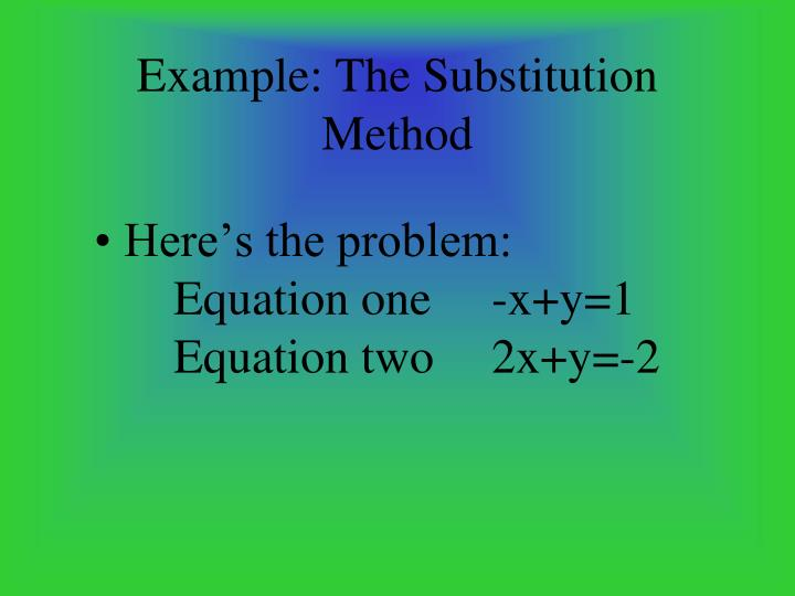 Here's the problem:Equation one-