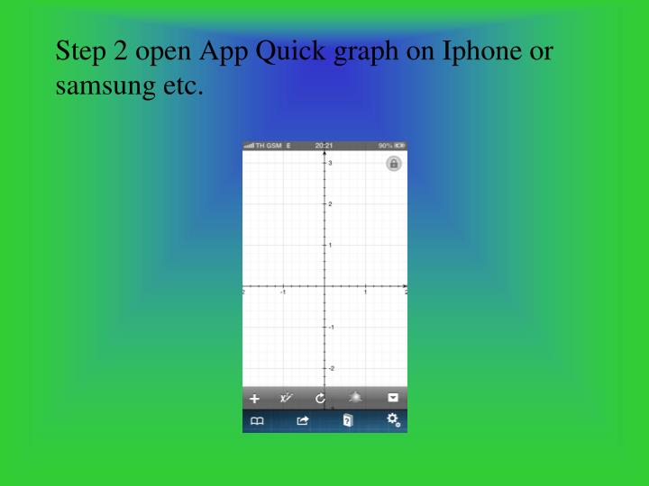 Step 2 open App Quick graph on