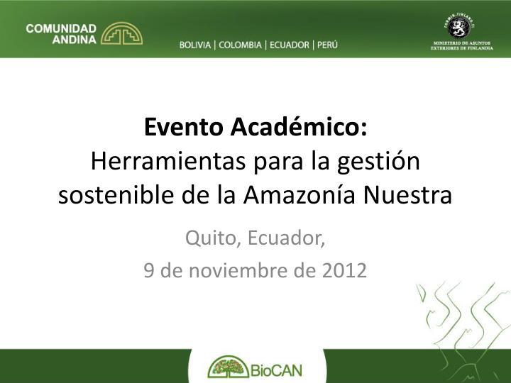 Evento Académico: