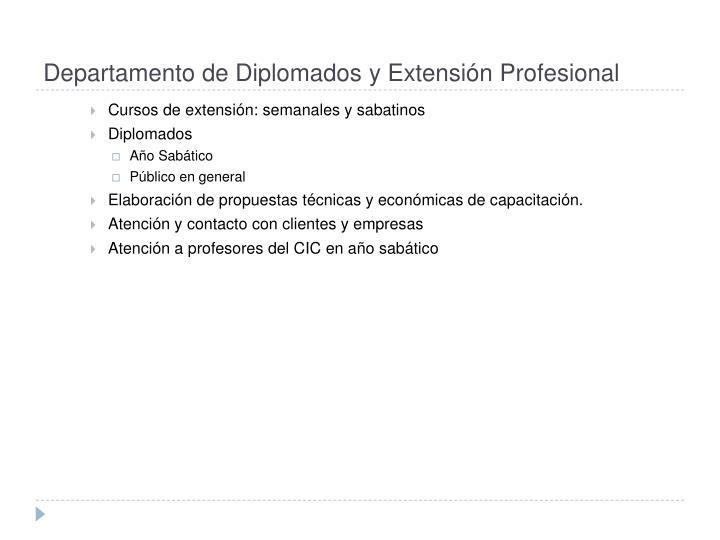 Departamento de Diplomados y Extensión Profesional