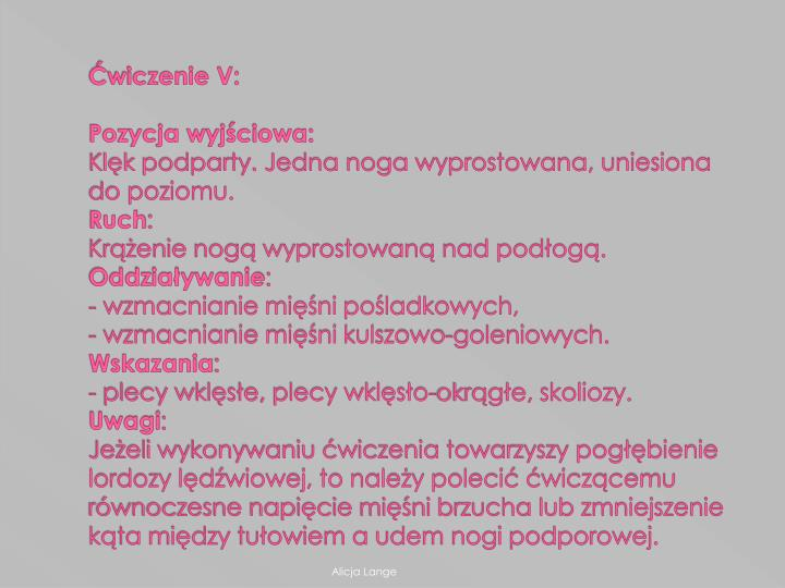 Ćwiczenie V: