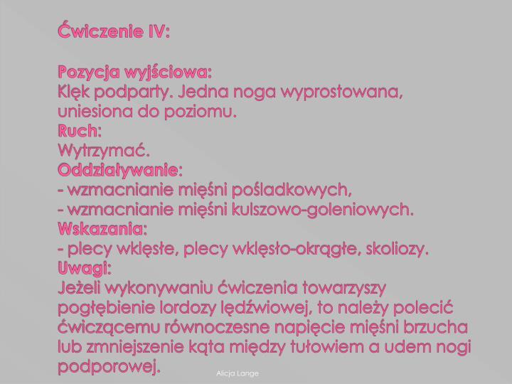 Ćwiczenie IV: