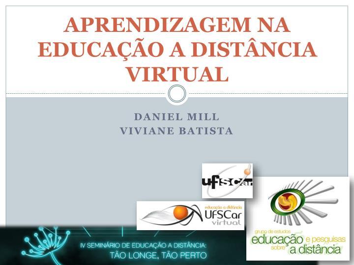 APRENDIZAGEM NA EDUCAÇÃO A DISTÂNCIA VIRTUAL